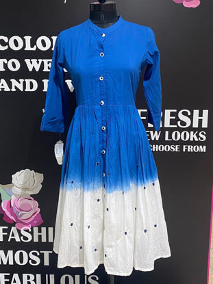 Picture of Soft Cotton Shaded Tunic With Pleated Pattern